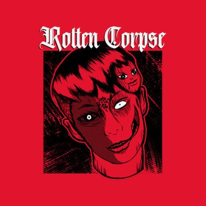 Logo Creator with an Illustration Inspired in a Horror Manga 3723c