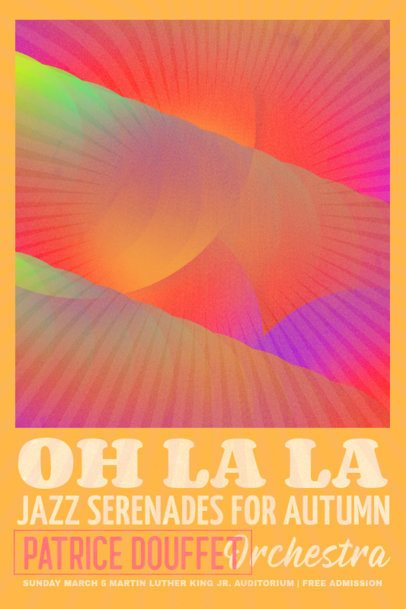 Poster Design Creator with a Cool Neon Photocopy Style for a Jazz Festival 3015i