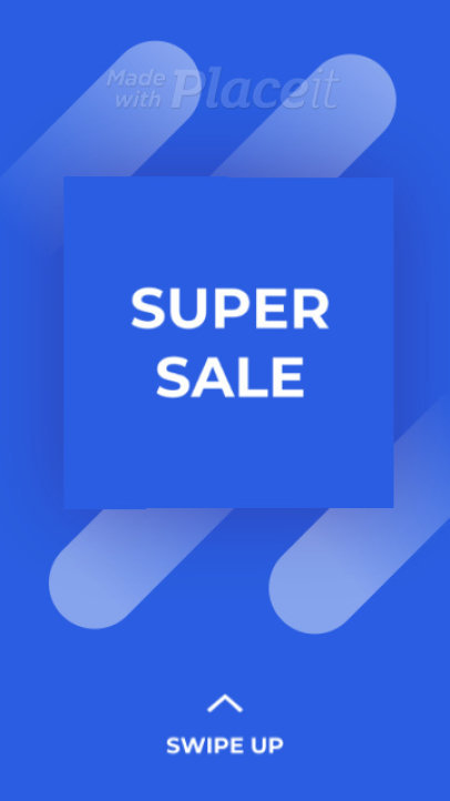 Instagram Story Video Maker for a Super Sale with an Animated Cube 2376-el1