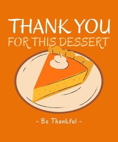 Illustrated T-Shirt Design Generator Featuring a Thanksgiving Pumpkin Pie  3009h