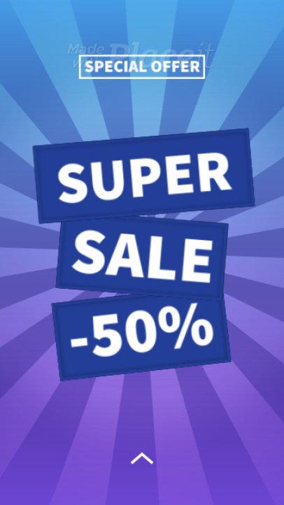 Instagram Story Video Creator for a Super Sale Announcement 2369-el1