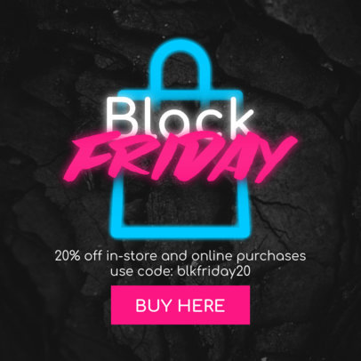 Ad Banner Maker Featuring Black Friday Offers and a Neon Aesthetic 3031