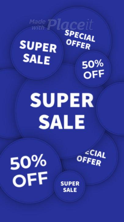 Fun Instagram Story Video Maker to Announce a Super Sale 2379-el1