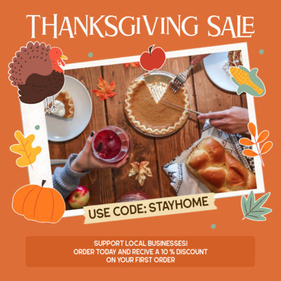 Instagram Post Template for a Thanksgiving Sale 3040