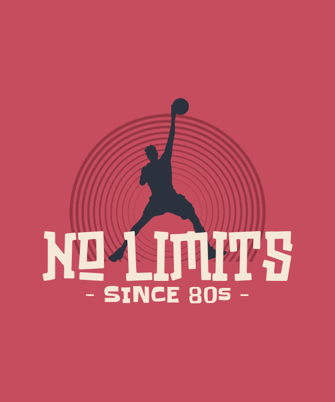 Basketball-Themed T-Shirt Design Maker with an '80s Aesthetic 3042f