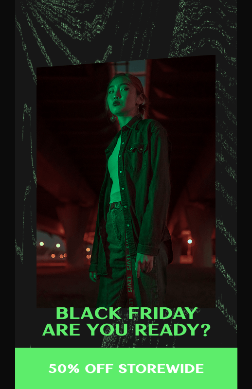 Flyer Design Template for a Black Friday Sale Featuring a Trendy Design 3033g