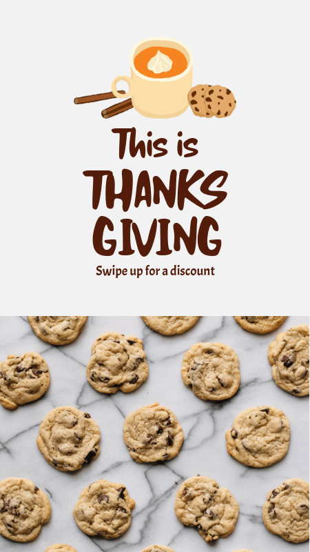 Thanksgiving-Themed Instagram Story Maker Featuring Cookie Graphics and Pictures 3039b