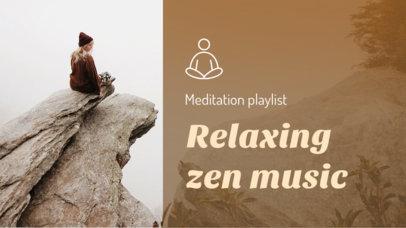 Wellness-Themed YouTube Thumbnail Template for a Zen Music Playlist 3064i