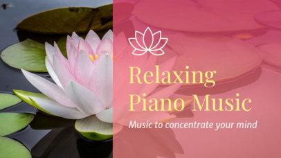 YouTube Thumbnail Generator for Relaxing Piano Music 3064b