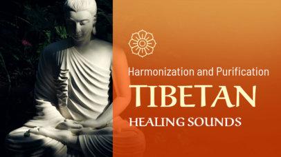 YouTube Thumbnail Creator for a Playlist with Healing Tibetan Harmonies 3064j