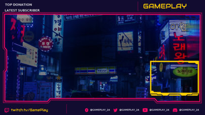 Twitch Overlay Generator with a Futuristic Layout Inspired in Cyberpunk 2077 3058e