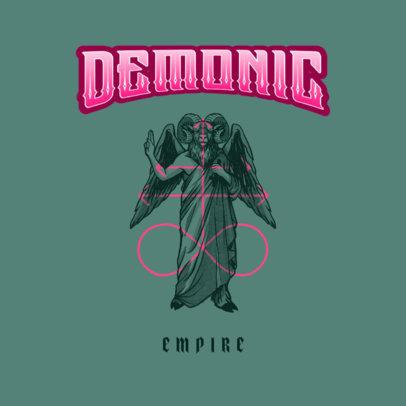Online Logo Generator Featuring Demonic Creature for a Thrash Metal Band 3772b