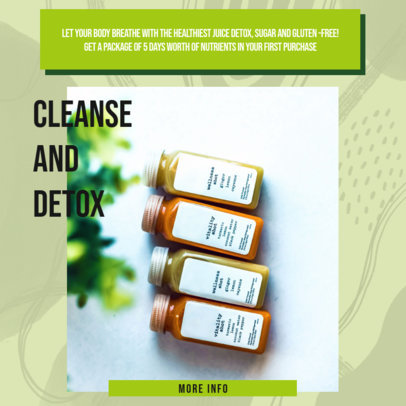 Instagram Post Generator for an MLM Company Promoting Detox Juices 3065a