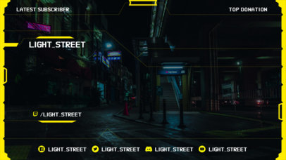 Twitch Overlay Creator with Cyberpunk 2077-Inspired Graphics for a Livestreaming Channel 3059e