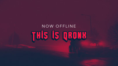 Cyberpunk 2077-Inspired Twitch Offline Banner Maker for a Game-Reviews Channel 3060d