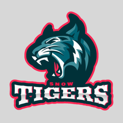 Sports Logo Maker for a Hockey Team with a Tiger Graphic 1560l-2933