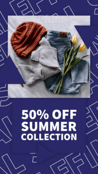 Instagram Story Video Maker Featuring an End-of-Summer Sale 2371-el1