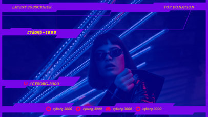 Twitch Overlay Creator Featuring a Cyberpunk 2077-Inspired Female Character 3059h