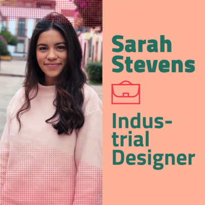 Instagram Post Maker for an Industrial Designer's Professional Resume Cover 3068i
