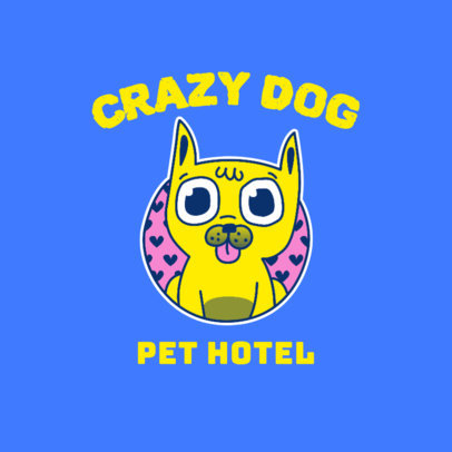 Logo Template for a Pet Hotel Featuring a Funny Dog Clipart 3776d