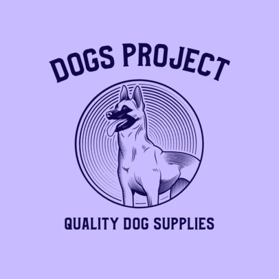 Illustrated Logo Maker for a Dogs' Quality Supplies Brand 3776j