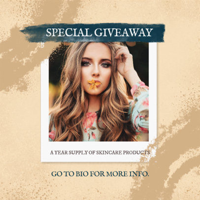 Instagram Post Maker for a Multi-level Marketing Beauty Products Giveaway 3066c