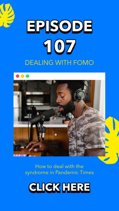 Instagram Story Design Template for Podcast Creators Featuring a Cool Layout 3068a-el1