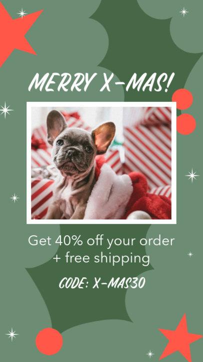 Instagram Story Maker for a Pets Store X-Mas Sale 3085c