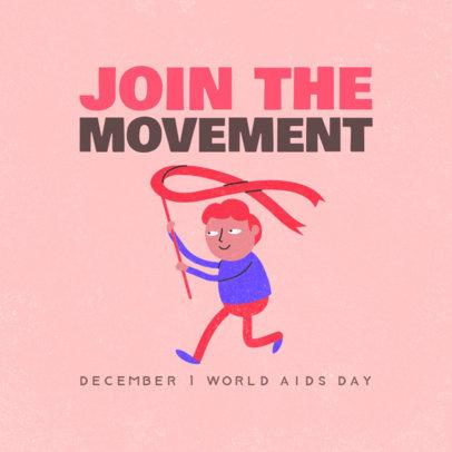 Instagram Post Creator to Commemorate AIDS Day 3098c