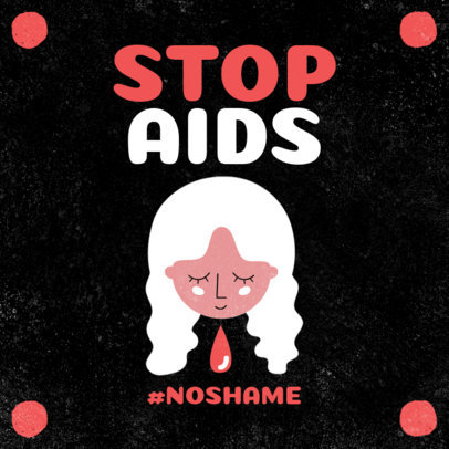 Instagram Post Generator to Raise Awareness About HIV and AIDS 3098d