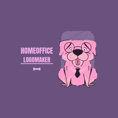 Home Office Logo Maker with a Cartoon of a Dog 3786g