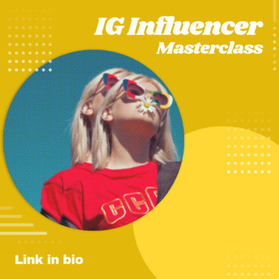 Colorful Instagram Post Generator for an Online Masterclass 3091k
