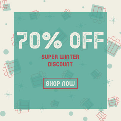 Winter Ad Banner Generator for a Super Discount 3088a