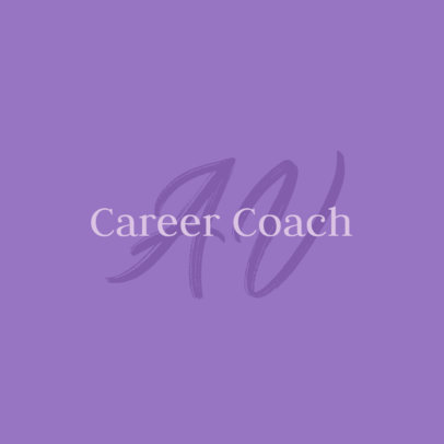 Logo Creator for a Career Coach Featuring Elegant Fonts 3793i