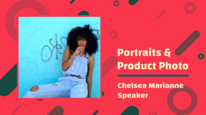YouTube Thumbnail Template for a Professional Photographer 3092c
