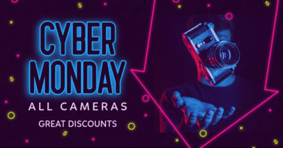 Facebook Post Maker for a Cyber Monday Discount on Cameras 3102a