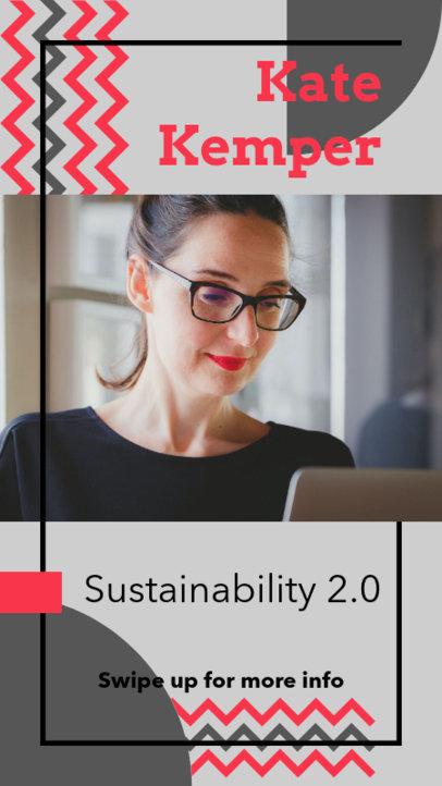 Instagram Story Design Maker for Sustainability Consultants 3090c