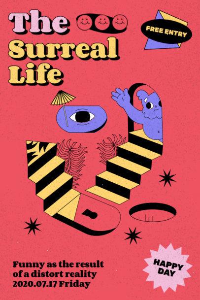 Poster Design Maker Featuring Surreal Illustrations 3123