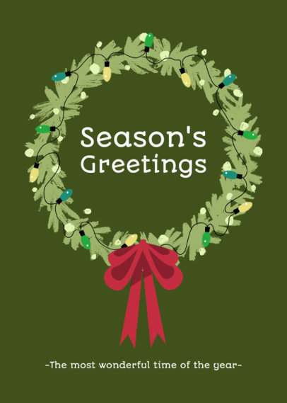 Christmas-Themed Greeting Card Design Template 3134c