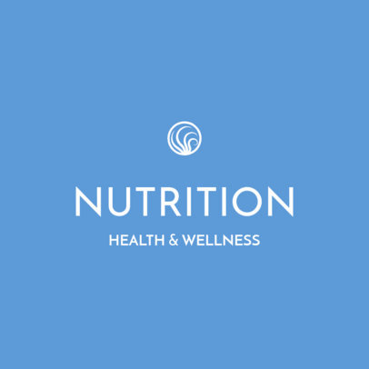 Elegant Logo Template for Nutritionists Featuring a Minimal Icon 3815f