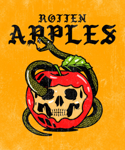 T-Shirt Design Generator for Rock Fans Featuring a Poisonous Apple Graphic 3127b