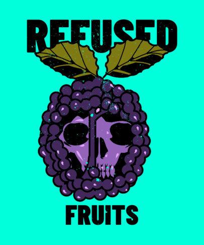 T-Shirt Design Generator Featuring an Illustration of a Skull Inside a Fruit 3127e