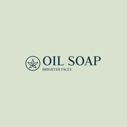 Organic Beauty Brand Logo Maker Featuring an Herb Graphic 3816d