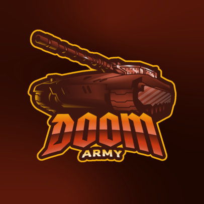 Online Gaming Logo Generator with a Graphic of a Powerful War Tank 3819h