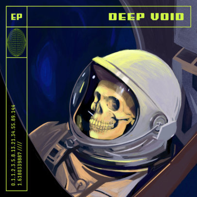 Prog-Rock Illustrated Album Cover Design Maker with a Dead Astronaut 3805a