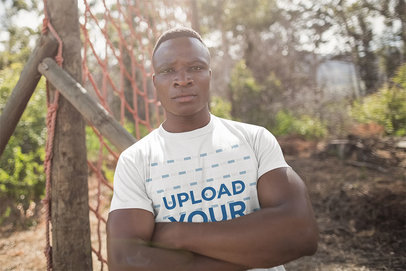 T-Shirt Mockup of a Marine at a Training Camp 40467-r-el2