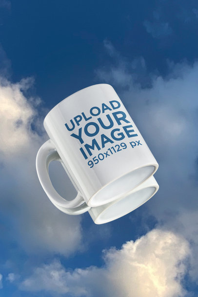 Mockup of an 11 oz Coffee Mug Featuring the Reflection of the Sky m594