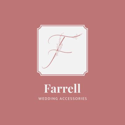 Logo Generator for a Wedding Accessories Shop Featuring Floral Cursive Letters 3148d-el1