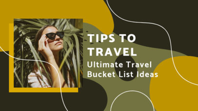 YouTube Thumbnail Maker for a Travel Channel Featuring Wavy Lines 3142a