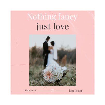 Instagram Post Generator for a Small Wedding Invitation 3156a